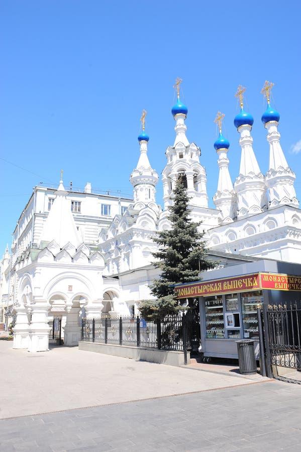 保佑的维尔京的诞生的教会在Putinki,莫斯科,俄罗斯 库存照片
