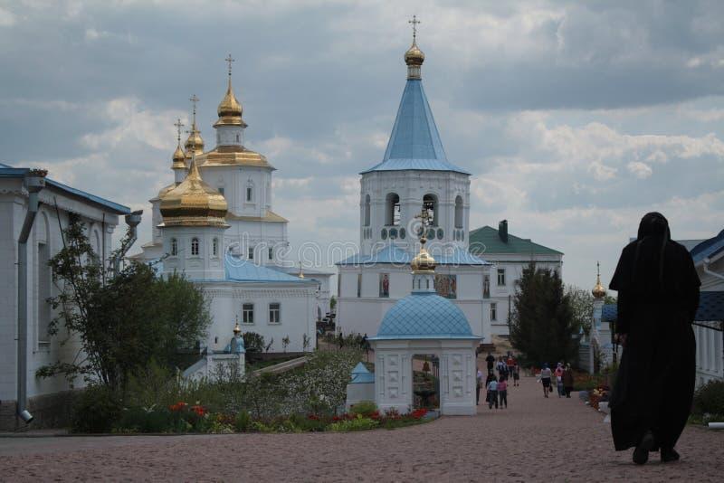 保佑的维尔京女性修道院的诞生在Putivl 库存图片