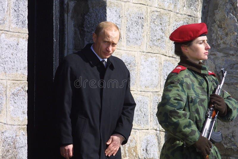 保加利亚俄罗斯普京参观 库存照片