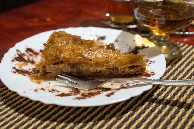 保加利亚全国果仁蜜酥饼 免版税图库摄影