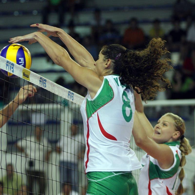 保加利亚冠军fivb s排球妇女 免版税库存照片