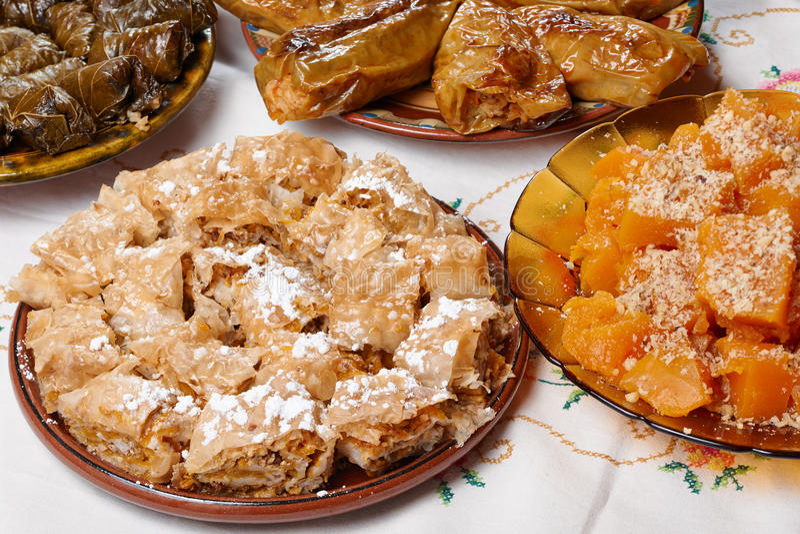 保加利亚圣诞节食物 库存照片