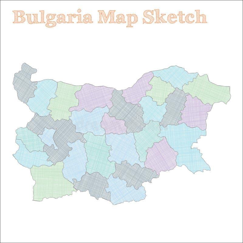保加利亚地图 向量例证
