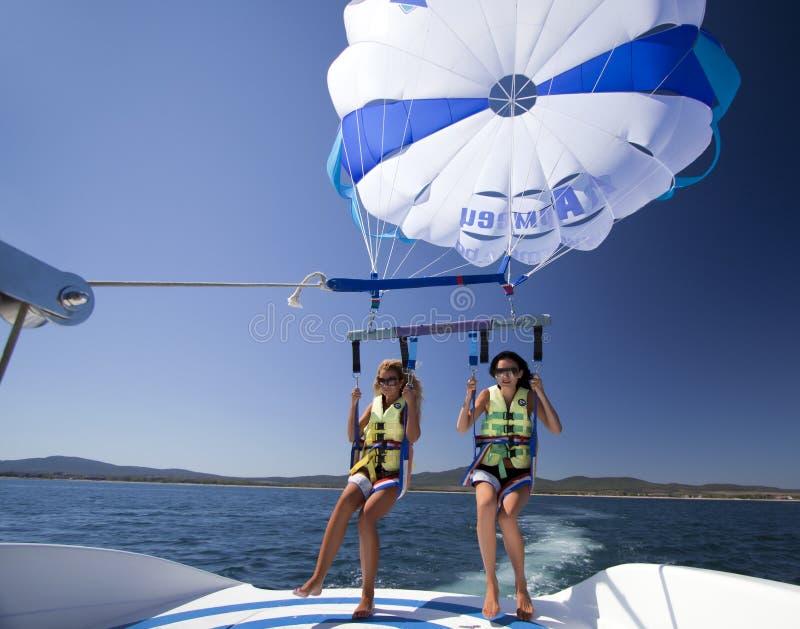保加利亚帆伞运动游人 库存图片