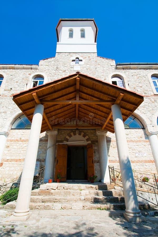 保加利亚教会入口nessebar 免版税库存照片