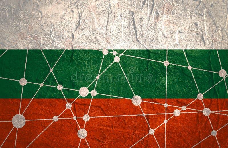 保加利亚旗子概念 向量例证