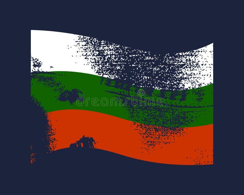 保加利亚旗子设计 皇族释放例证