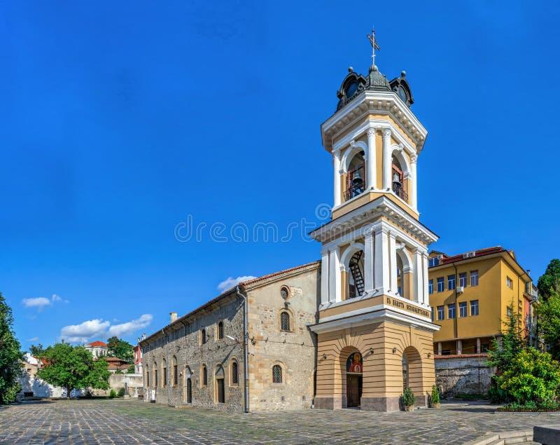 保加利亚普罗夫迪夫市圣母东正教堂 库存照片