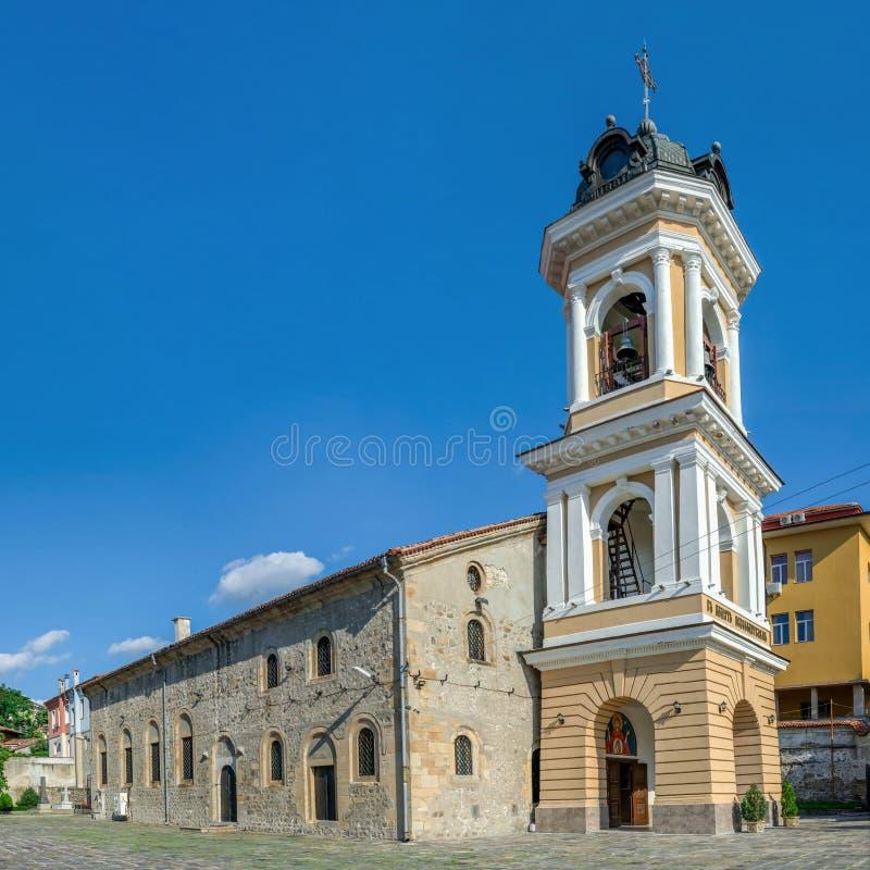 保加利亚普罗夫迪夫市圣母东正教堂 免版税库存图片