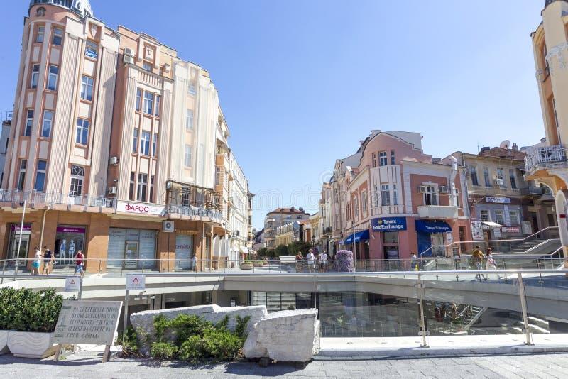 保加利亚普罗夫迪夫文化镇 库存照片
