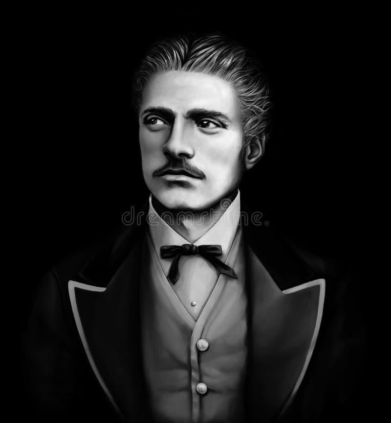 保加利亚民族英雄Vasil Levski 1837-1873 库存图片