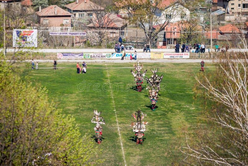 保加利亚民间传说和化妆舞会节日瓦尔瓦拉 免版税库存照片