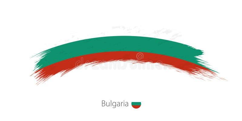保加利亚的旗子被环绕的难看的东西刷子冲程的 向量例证