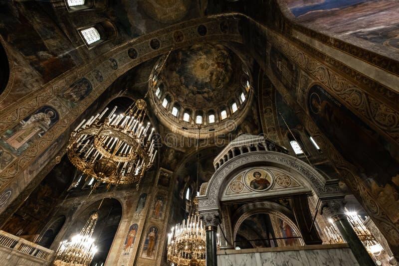 保加利亚索非亚亚历山大涅夫斯基主教座堂 库存照片