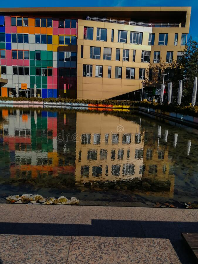 保加利亚索非亚现代办公大楼 库存图片