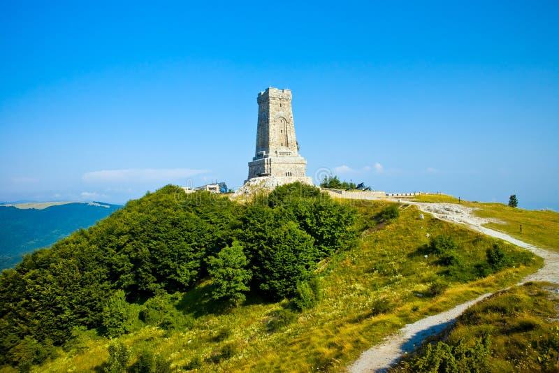 保加利亚纪念shipka视图 库存照片