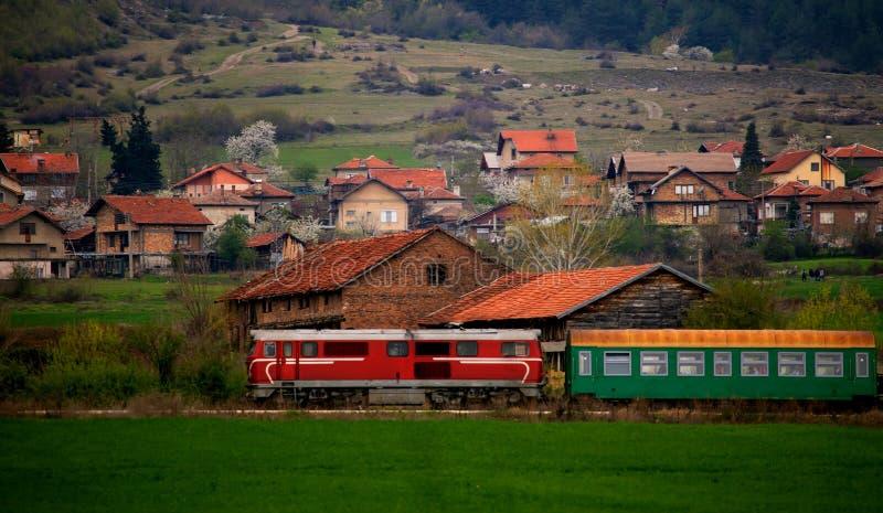 保加利亚老火车 免版税库存照片