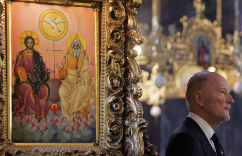 保加利亚西梅昂Saxe科堡哥达国王画象 免版税图库摄影