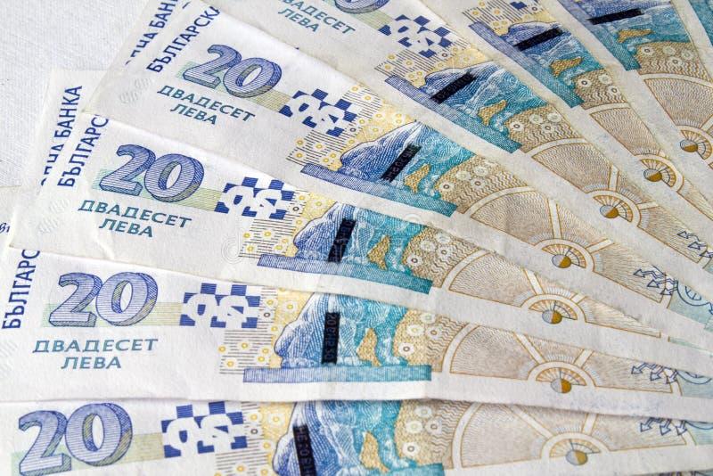 保加利亚货币 免版税库存照片