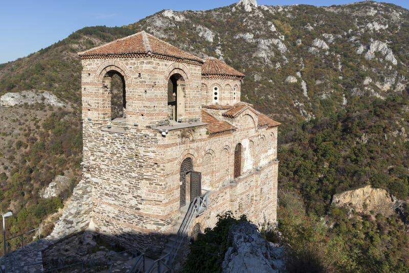 保加利亚阿塞诺夫格勒中世纪阿森堡遗址 库存图片