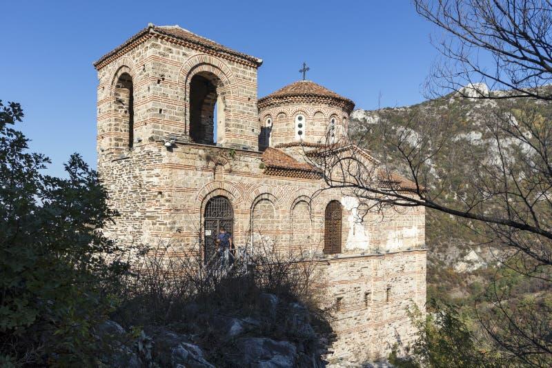 保加利亚阿塞诺夫格勒中世纪阿森堡遗址 图库摄影