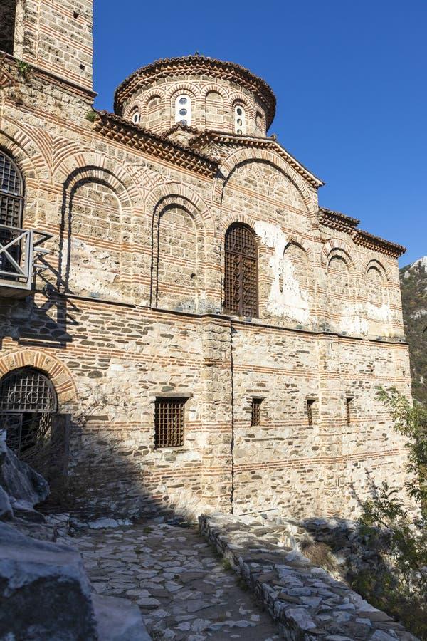 保加利亚阿塞诺夫格勒中世纪阿森堡遗址 免版税库存照片