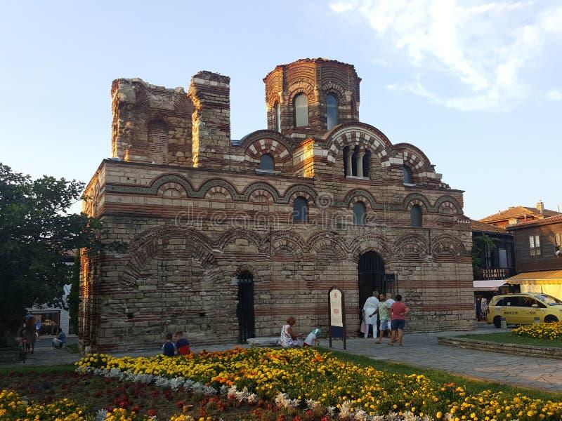 保加利亚,内塞伯尔-基督Pantokrator教会  图库摄影