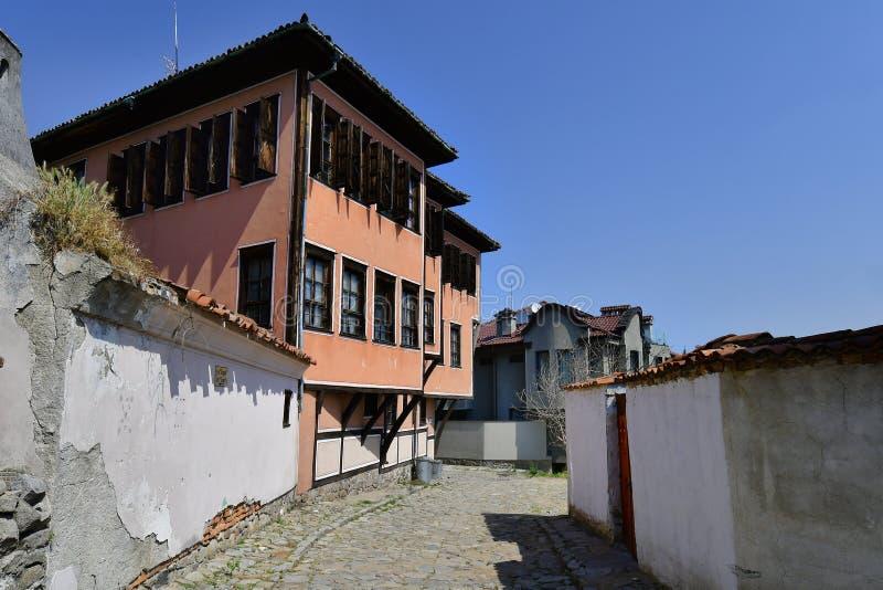 保加利亚,普罗夫迪夫,老镇 免版税库存照片