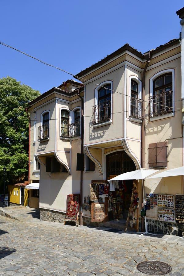 保加利亚,普罗夫迪夫,老镇 库存照片
