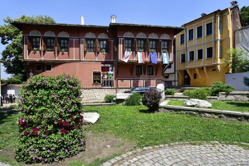 保加利亚,老镇普罗夫迪夫 免版税库存照片