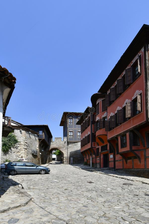 保加利亚,老镇普罗夫迪夫 免版税库存图片