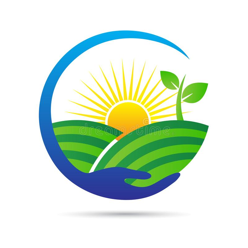 保存关心自然和农业商标 皇族释放例证
