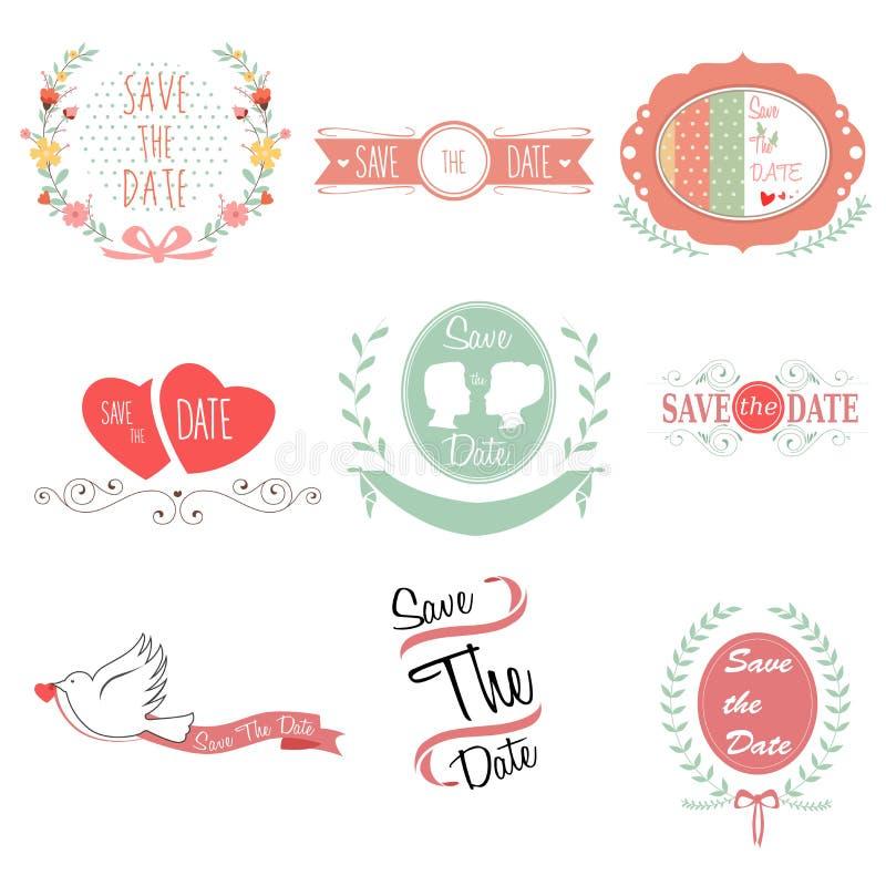 保存婚姻的日期 向量例证