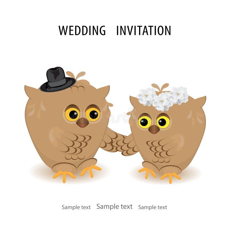 保存日期婚礼邀请卡片模板 传染媒介illustrati 皇族释放例证