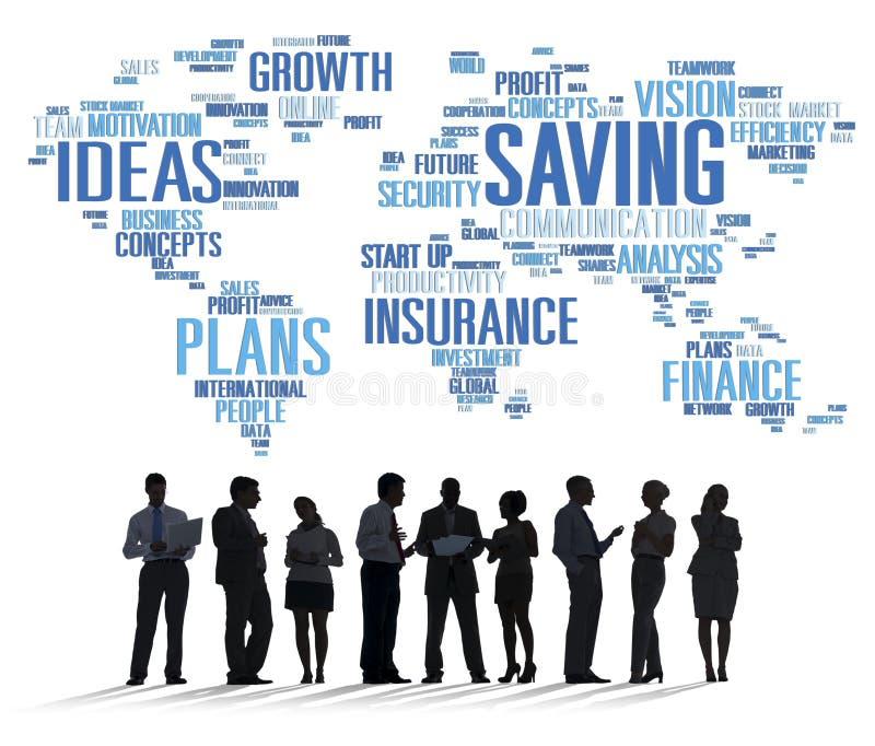 保存的财务全球性财务世界经济概念 向量例证