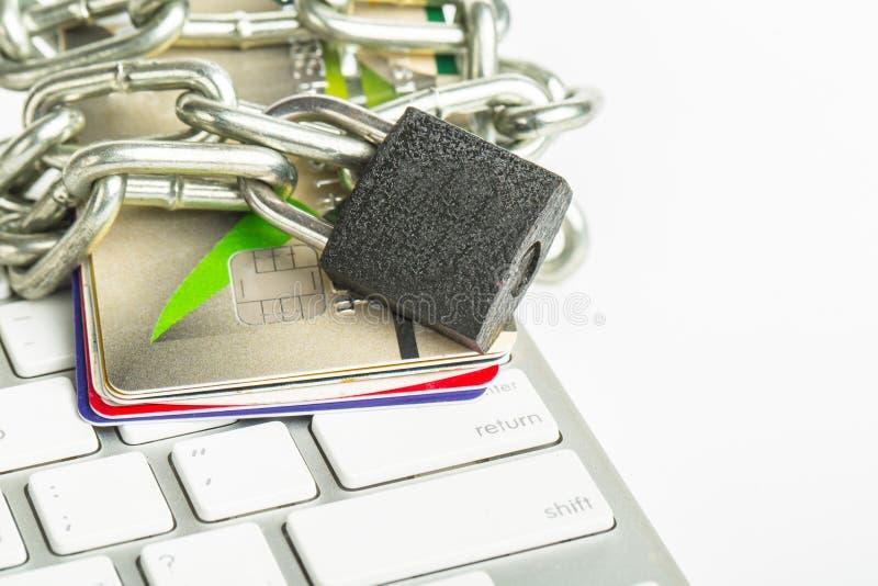 保存网上您的付款 免版税库存图片