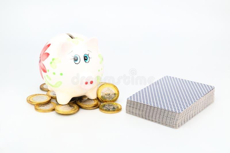保存赌博 免版税库存图片