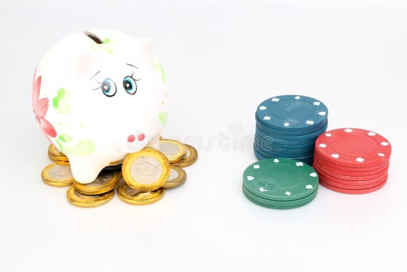 保存赌博 库存图片
