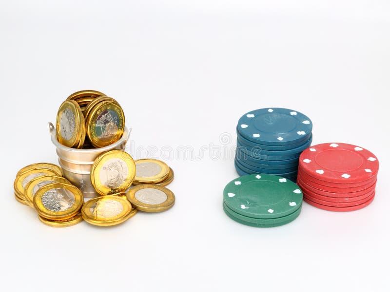 保存赌博 免版税库存照片