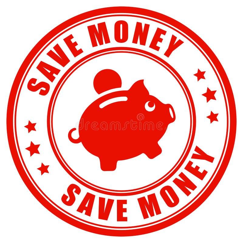 保存金钱最佳的价格保证邮票 向量例证