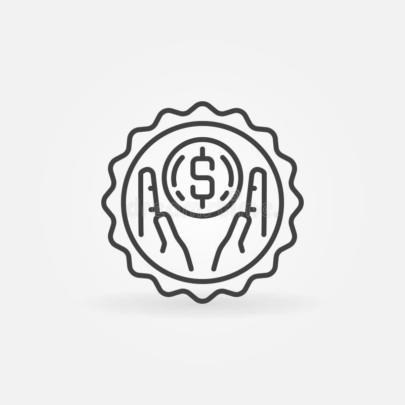 保存金钱概述徽章 向量例证
