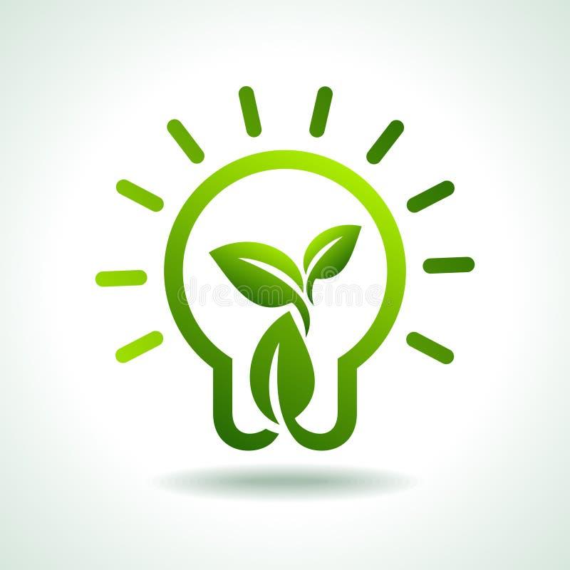 保存绿色环境想法和概念 皇族释放例证