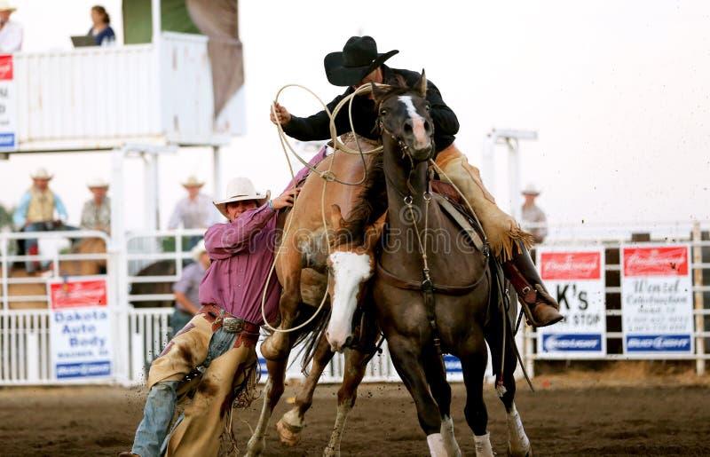 保存Cowbooy的提取人 免版税库存图片