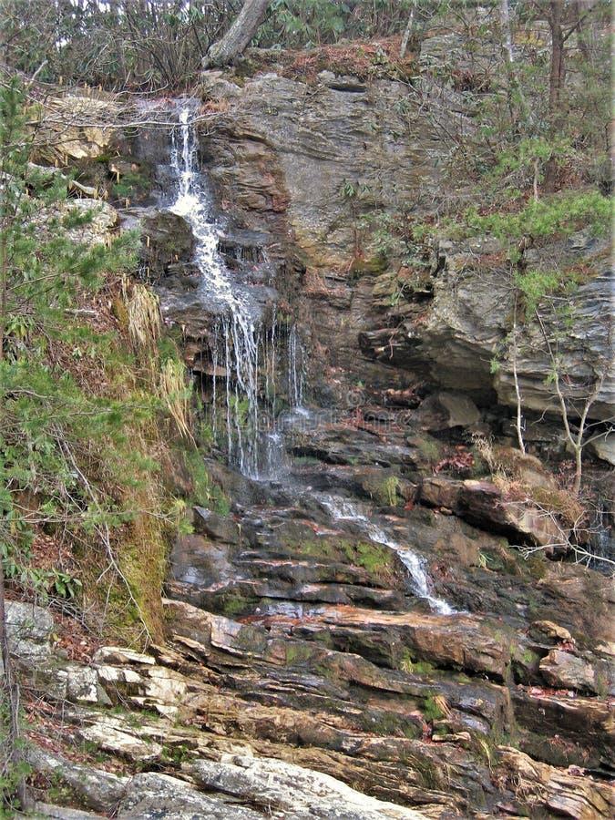 保守分子` s在垂悬的岩石国家公园落 图库摄影