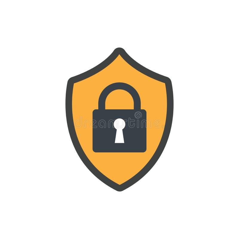 保密性与安全特点的方式象 向量例证