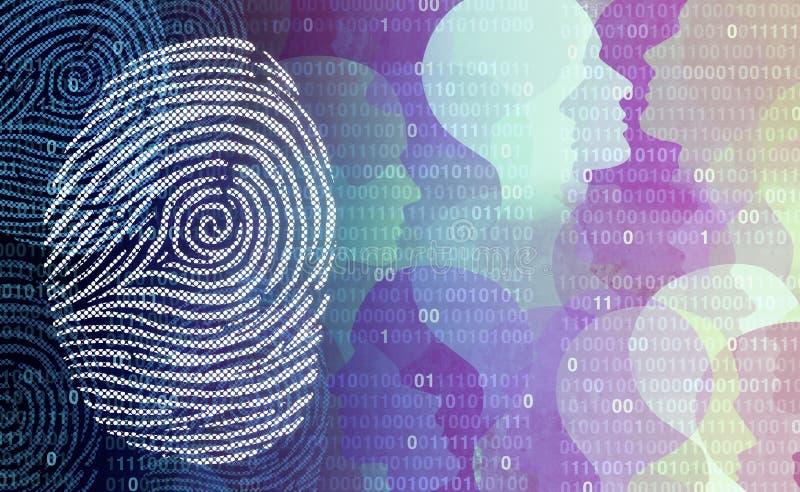 保密性数据保密 库存例证