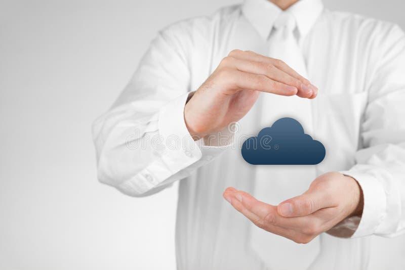 保护云彩计算的数据 库存照片