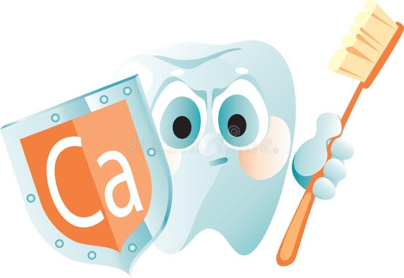 保护可靠的牙 库存例证