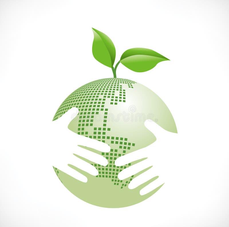 保护地球 向量例证