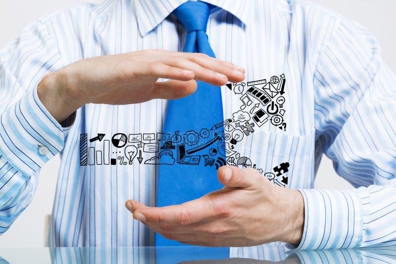 保护您的事务 免版税图库摄影